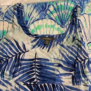 Tommy Bahama palm print dress size S